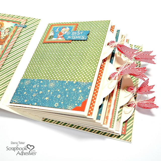 Graphic 45 Rectangle Tag and Pocket Christmas Magic December Daily Mini Album