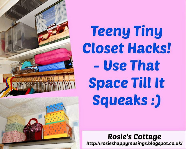 Teeny Tiny Closet Hacks - Use that space till it squeaks!