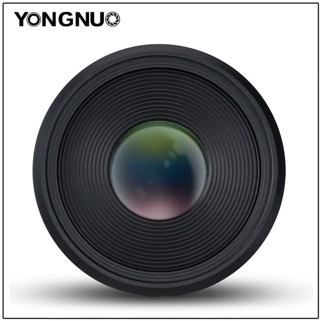 Объектив Yongnuo YN 60mm f/2 MF, вид спереди