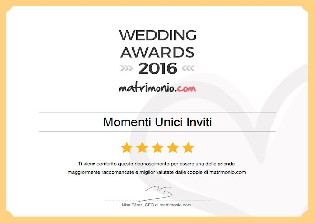 Immagine Di nuovo vincitori del premio Wedding Awards conferito dal prestigioso portale di nozze matrimonio.comPremi