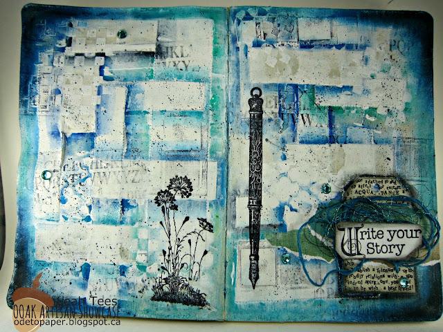 Art Journal Mixed Media Leah Tees