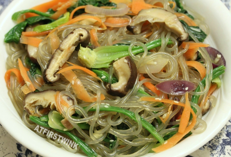 Korean glass noodles japchae 잡채 recipe