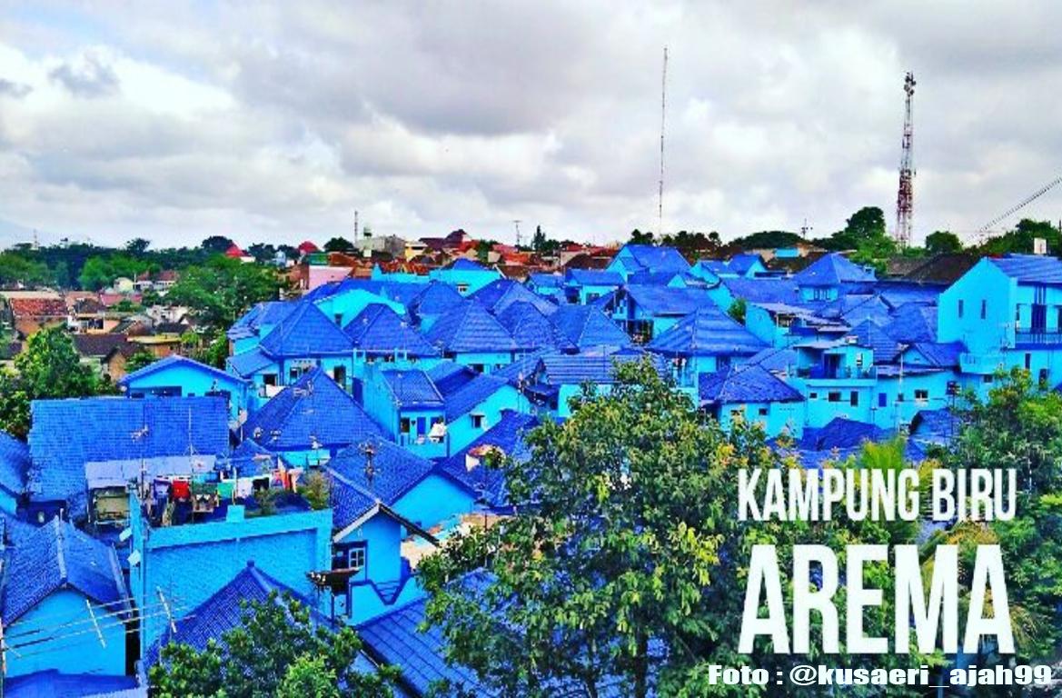 Rute dan lokasi kampung biru arema malang