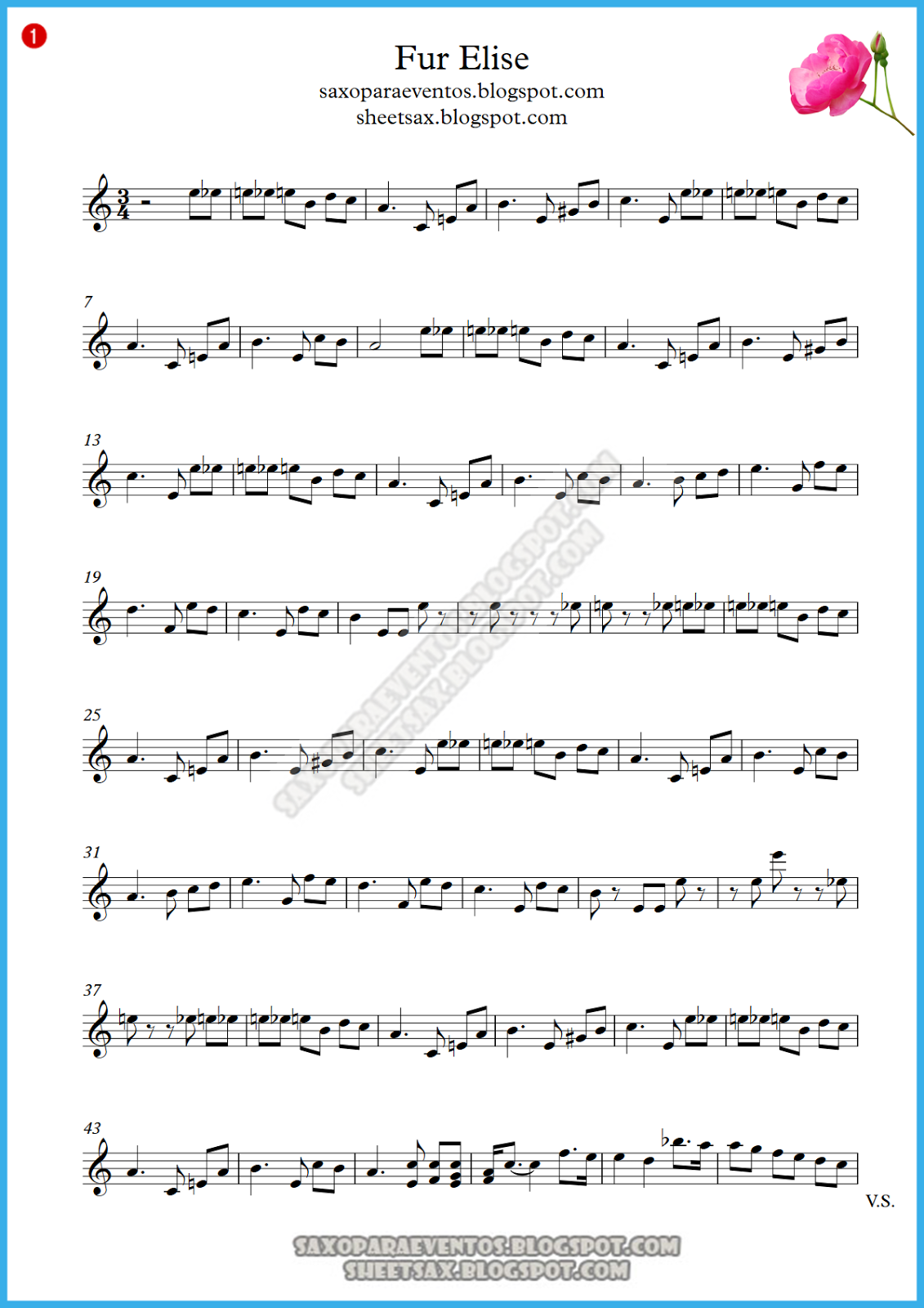 Fur Elise Free Sheet Music With Letters