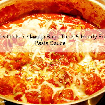 Turkey Meatball Recipe in Homestyle Ragu Sauce & Giveaway