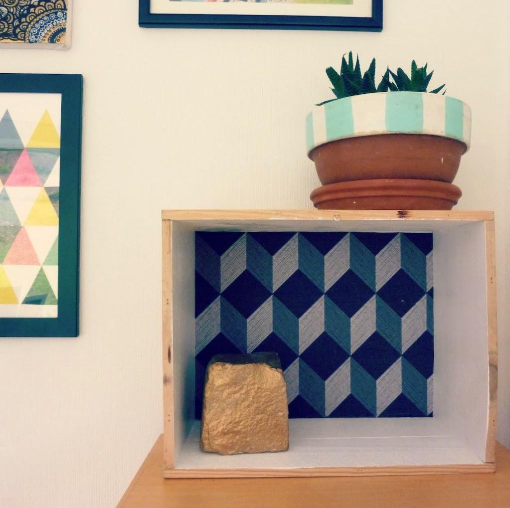 papier peint g om trique pas cher. Black Bedroom Furniture Sets. Home Design Ideas