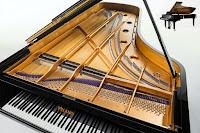 Kapağı açık bir piyano