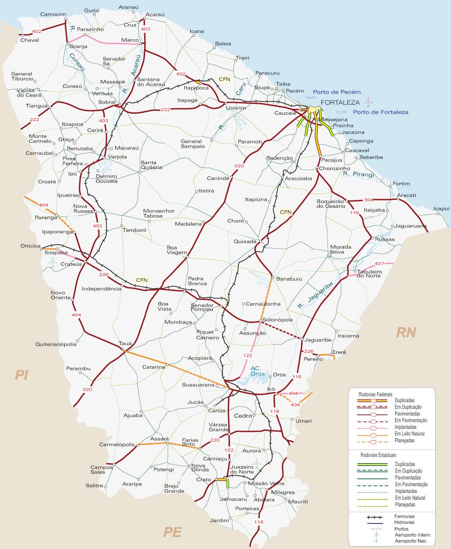 Ceará | Mapas Geográficos do Ceará