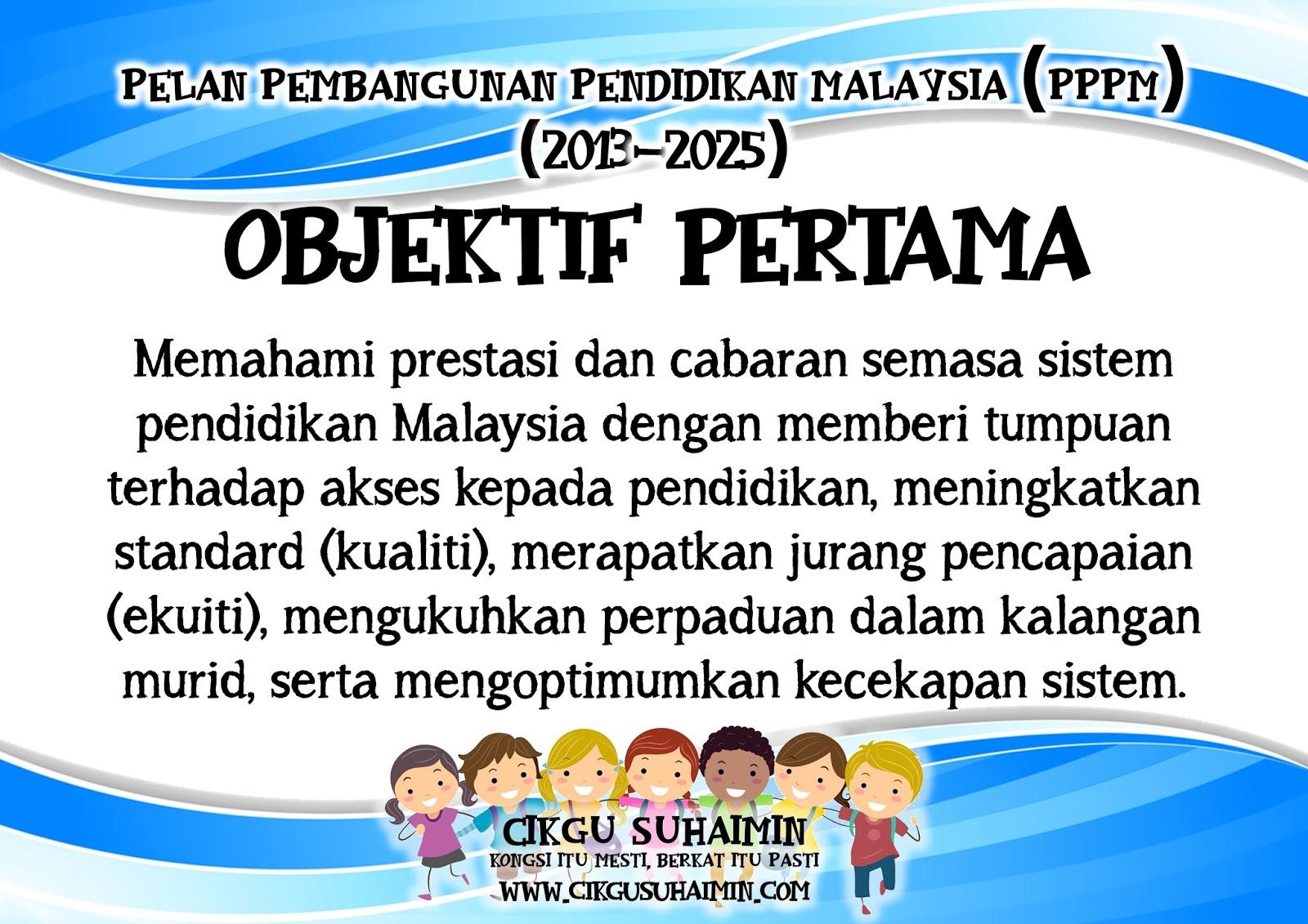 3 Objektif Pelan Pembangunan Pendidikan Malaysia Pppm 2013 2025