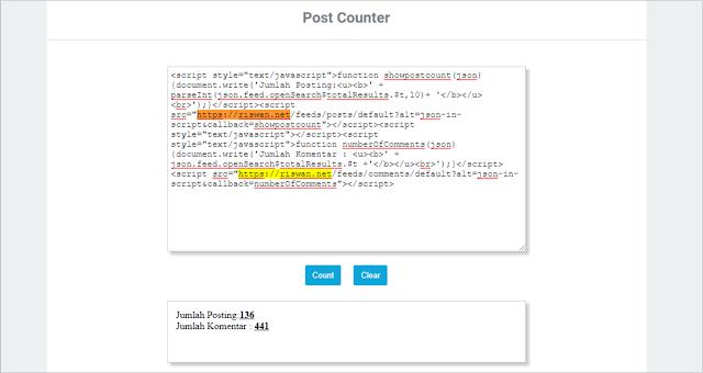 Cara Mengetahui Jumlah Postingan Blog Orang Lain