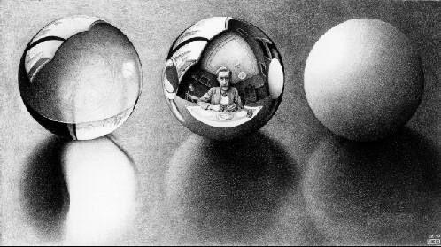 Três Esferas ll - Escher, M. C. e suas geniais litogravuras