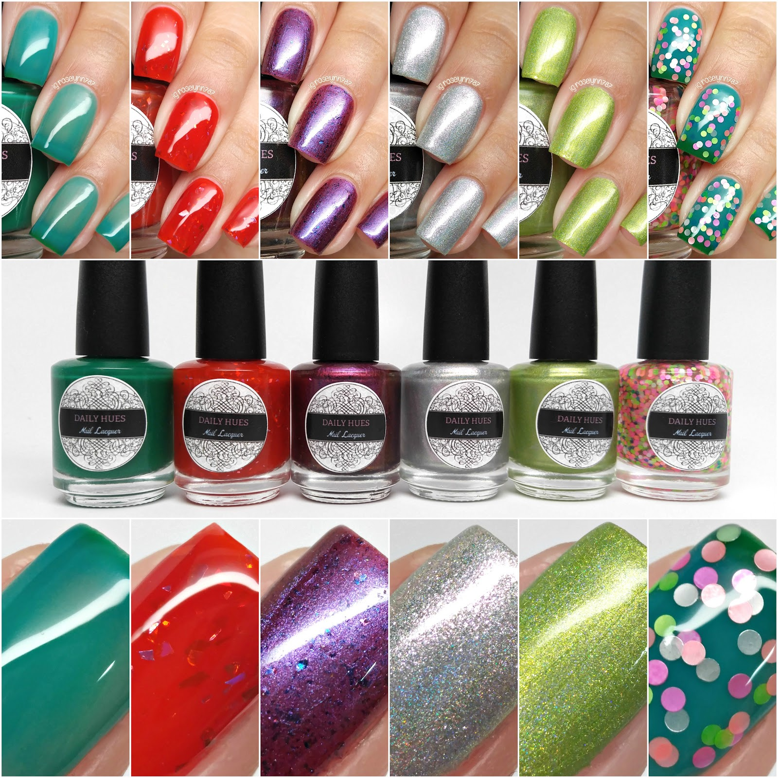 Daily Hues Lacquer - Summer in Seattle Collection - Part 1 ...