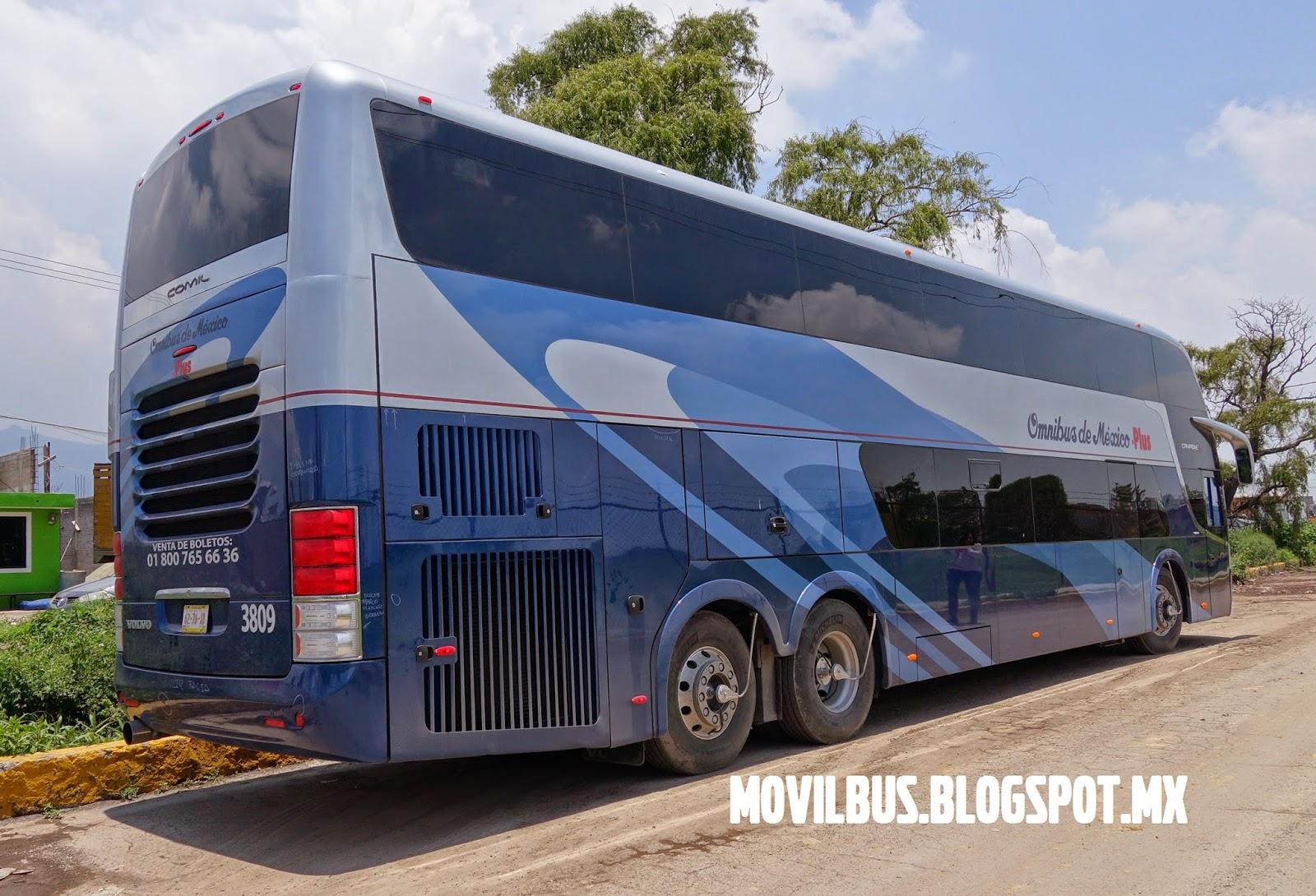 Movilbus volvo double decker comil campione dd omnibus de mexico plus - Autobuses de dos pisos ...