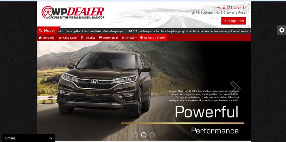 Template Dealer Mobil Motor