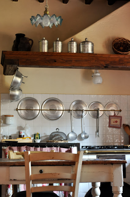 The Kitchen in our Villa at Borgo Argenina in Gaiole in Chianti, Italy | Taste As You Go