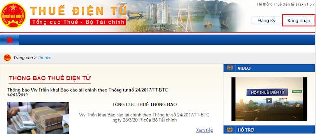 Hướng dẫn sử dụng nộp thuế điện tử Thuedientu.gdt.gov.vn