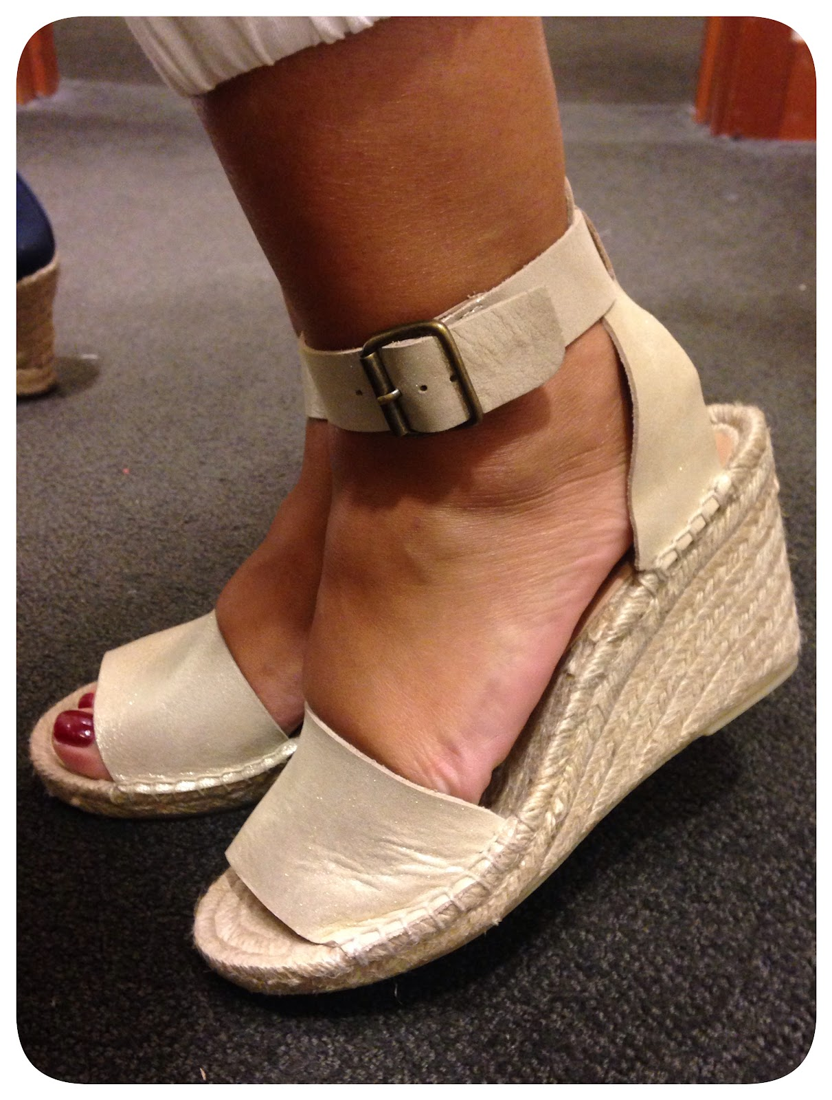 48efa4a346d7 The heel height didn t bother me at all. I m used to the height of the Seville  Espadrille and these were no different. It also helps that this is a wedge