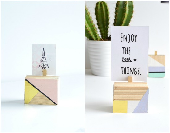 pastel and gold wood cubes