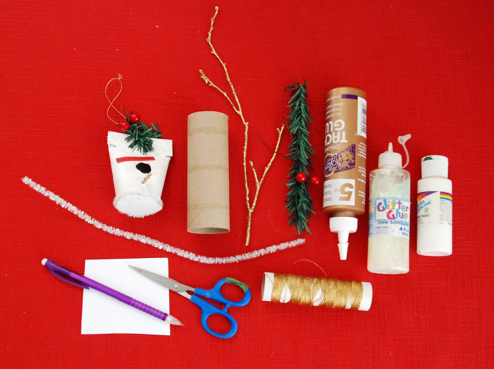 Christmas Birdhouses Crafts.That Artist Woman How To Make A Christmas Birdhouse Ornament
