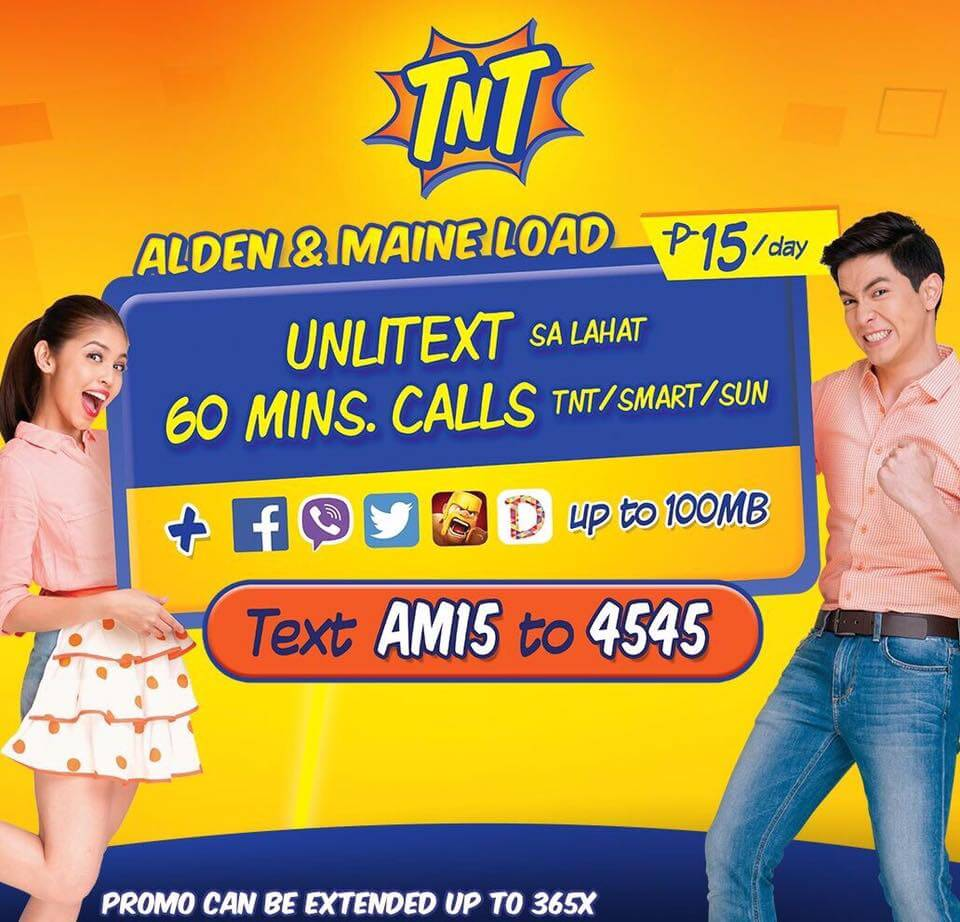 Talk N Text Alden and Maine 'ALDUB' Load Unlitxt to All Networks Promo