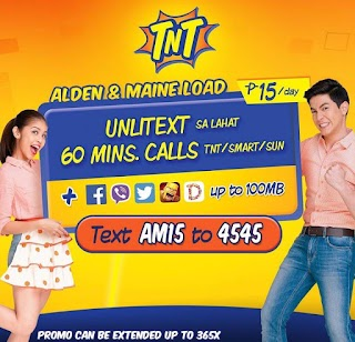 Talk N Text Alden and Maine 'ALDUB' Load Unlitxt to All Networks Promo