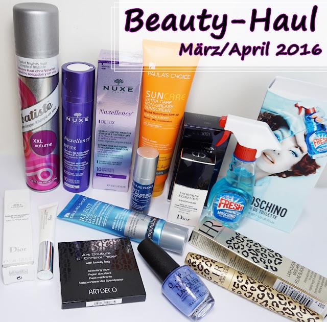 Shopping-HAUL Frühling 2016 - Man gönnt sich ja sonst nichts Paula's Choice, Dior, Moschino, Nuxe
