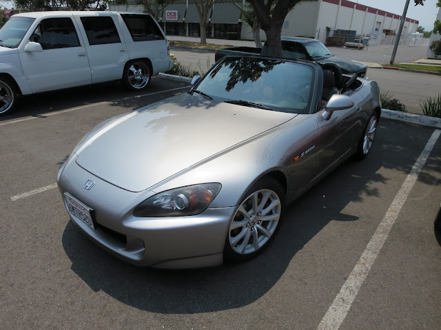 Honda S2000 before collision repairs.
