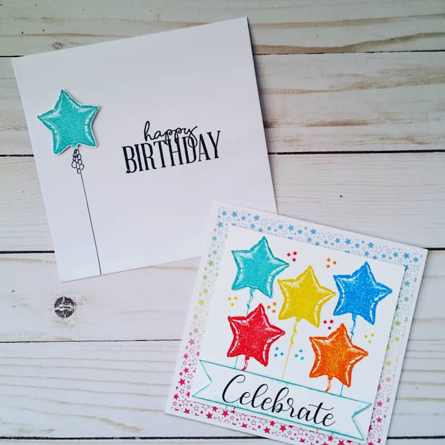 Sunny Studio Stamps: Bold Balloons Customer Card Share by Jennifer Richards