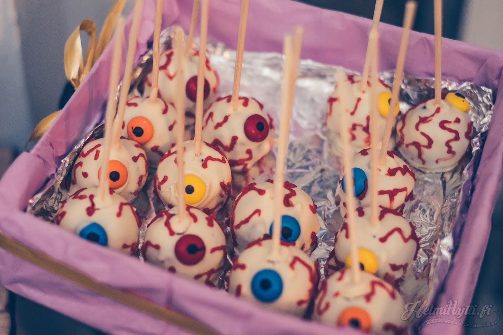 id halloween parhaat herkut silmämuna cakepops