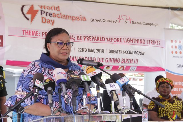 First Lady Rebecca Akufo-Addo calls for more attention to pre-eclampsia in pregnant women