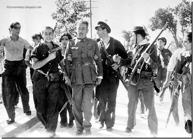 Spanish civil war captured rebel madrid 1936