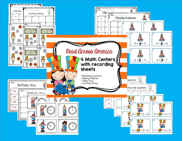 Read Across America Math Centers