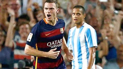 Trung vệ Vermaelen trong màu áo Barca.