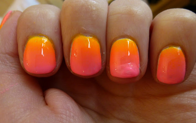 DIY Neon Ombre Nails