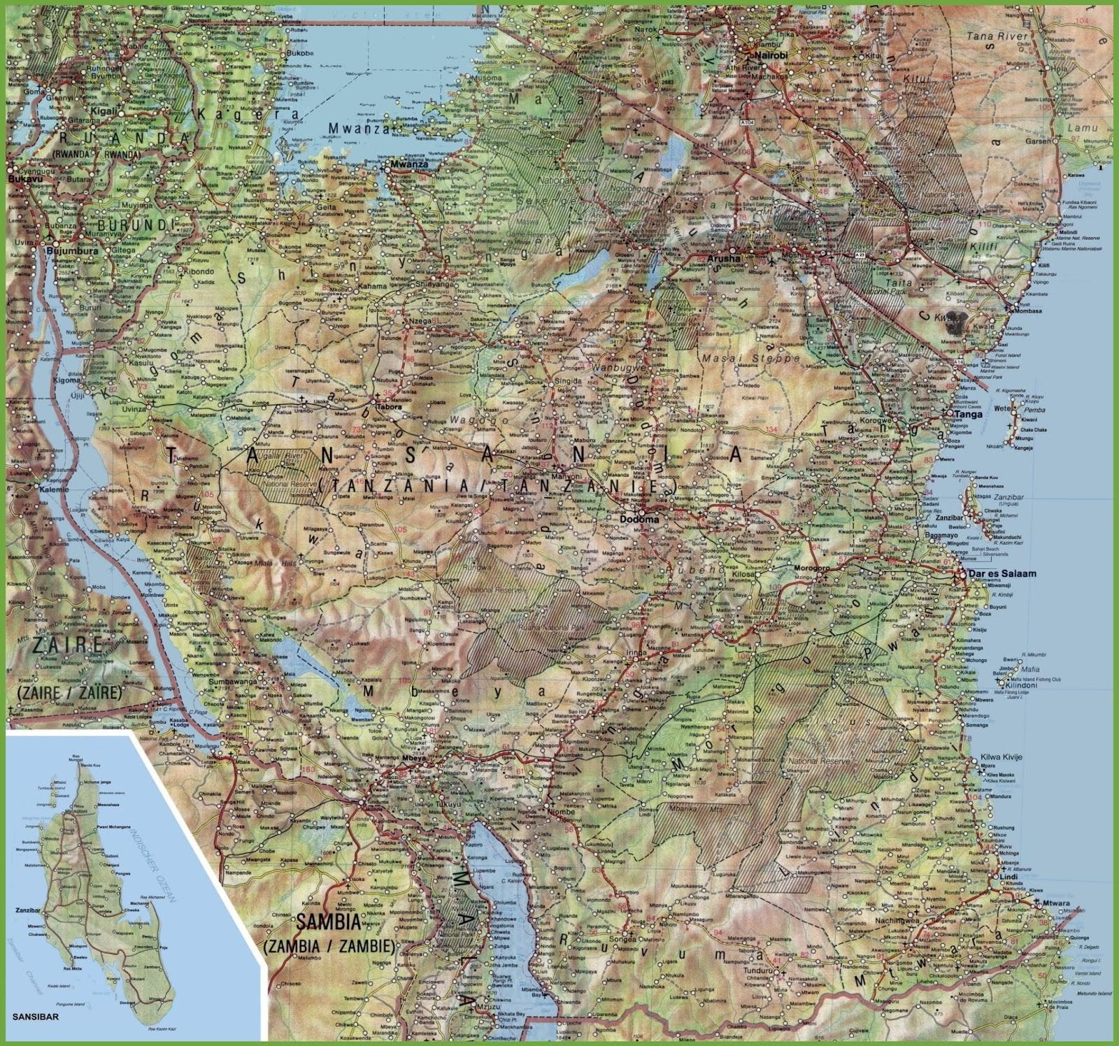 Tanzania Maps