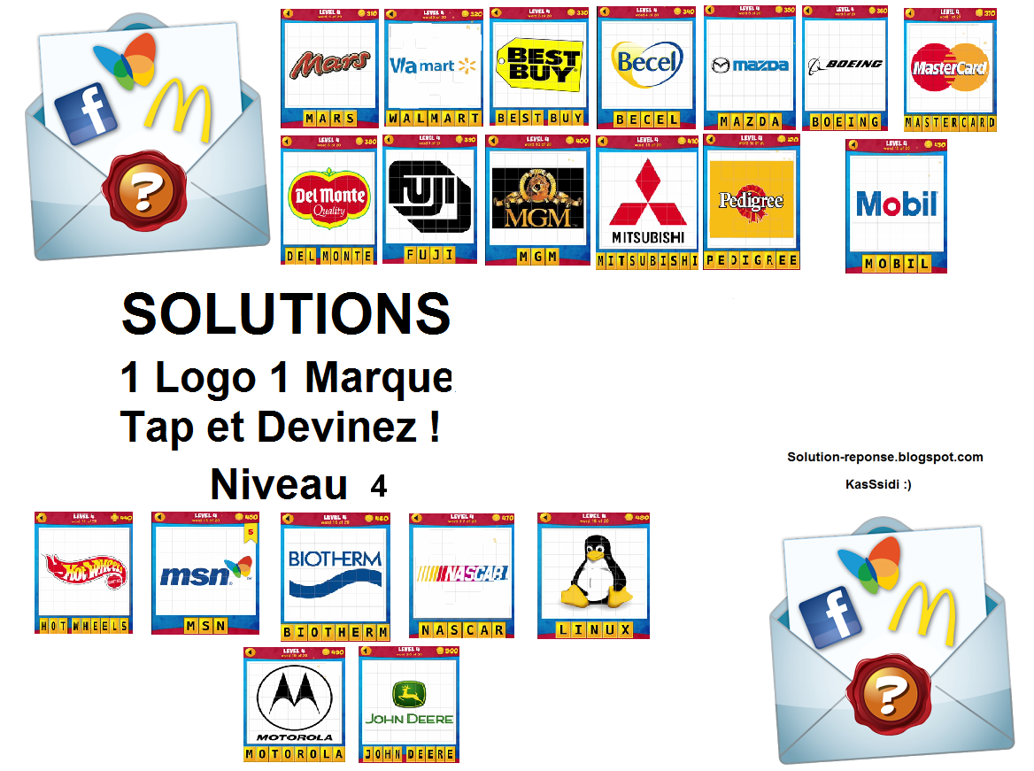 solution 1 logo 1 marque quiz niveau 4 toutes les solutions r ponses des jeux android iphone. Black Bedroom Furniture Sets. Home Design Ideas