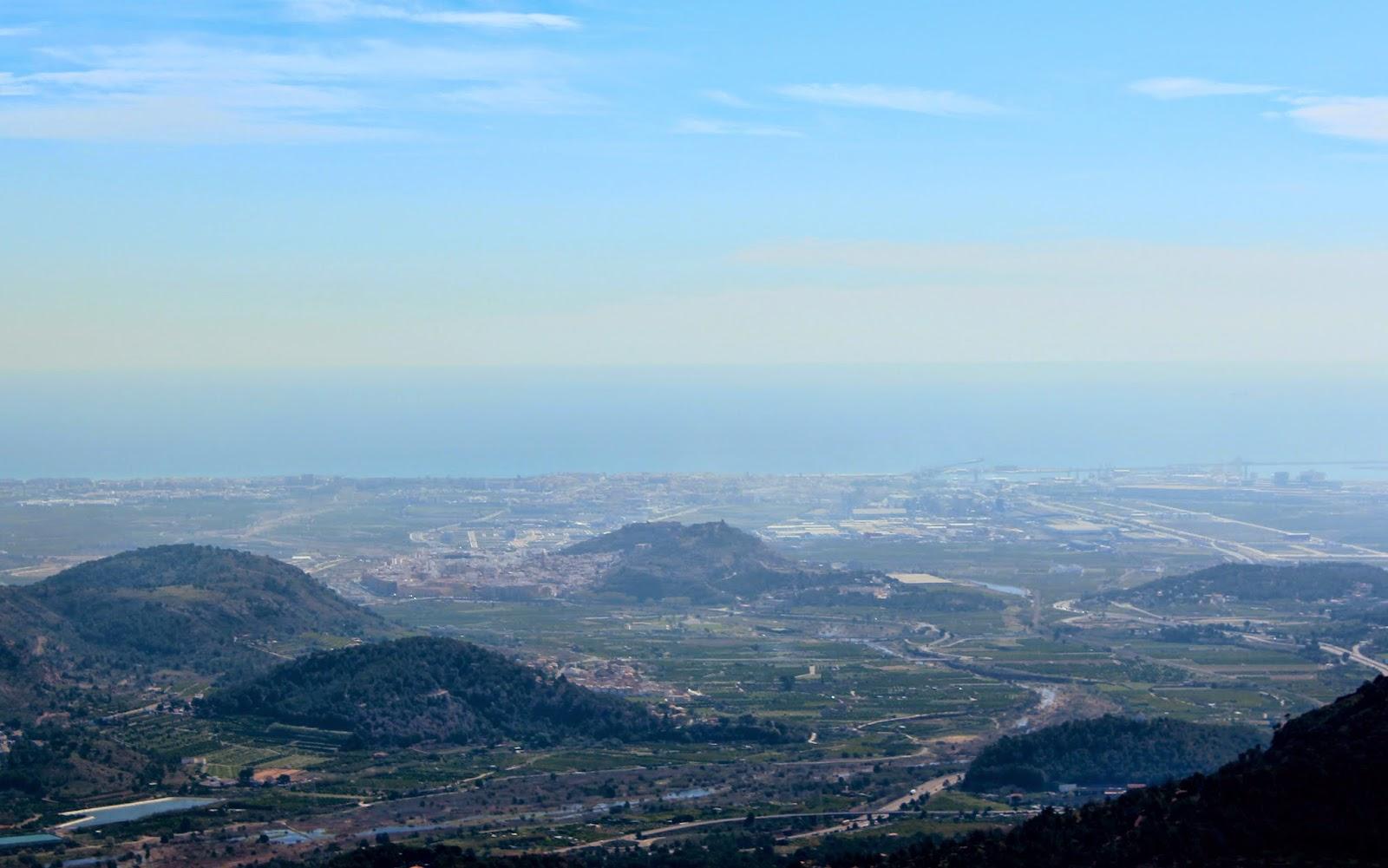 Vistas desde el Garbi en Sagunto