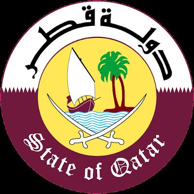Coat of arms - Flags - Emblem - Logo Gambar Lambang, Simbol, Bendera Negara Qatar