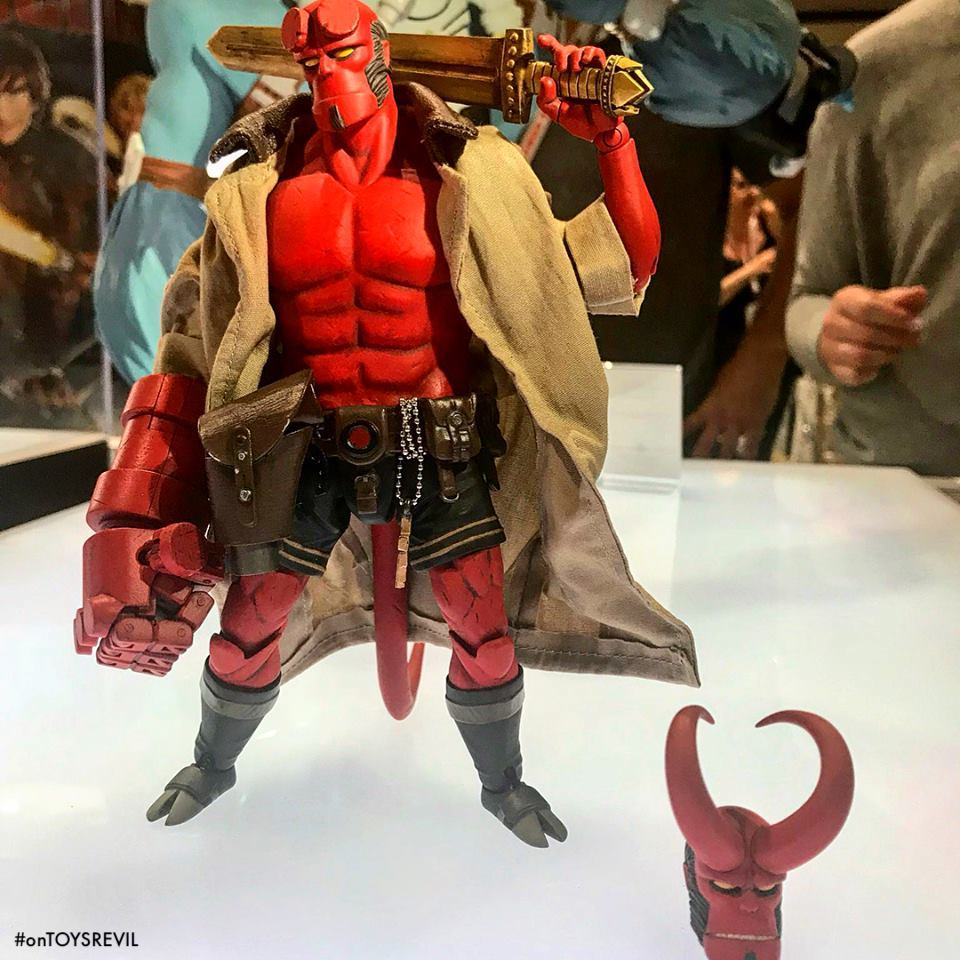 Introducing The Hellboy 1 12th Action Figure From Dark Horse X 1000toys Funko Pop Comics In Suit Sdcc Updated Seen On Display At San Diego Comic Con 2018 July 18 22 Booth 2615 Preorder Details Coming Soon After Final Adjustments Are Made To