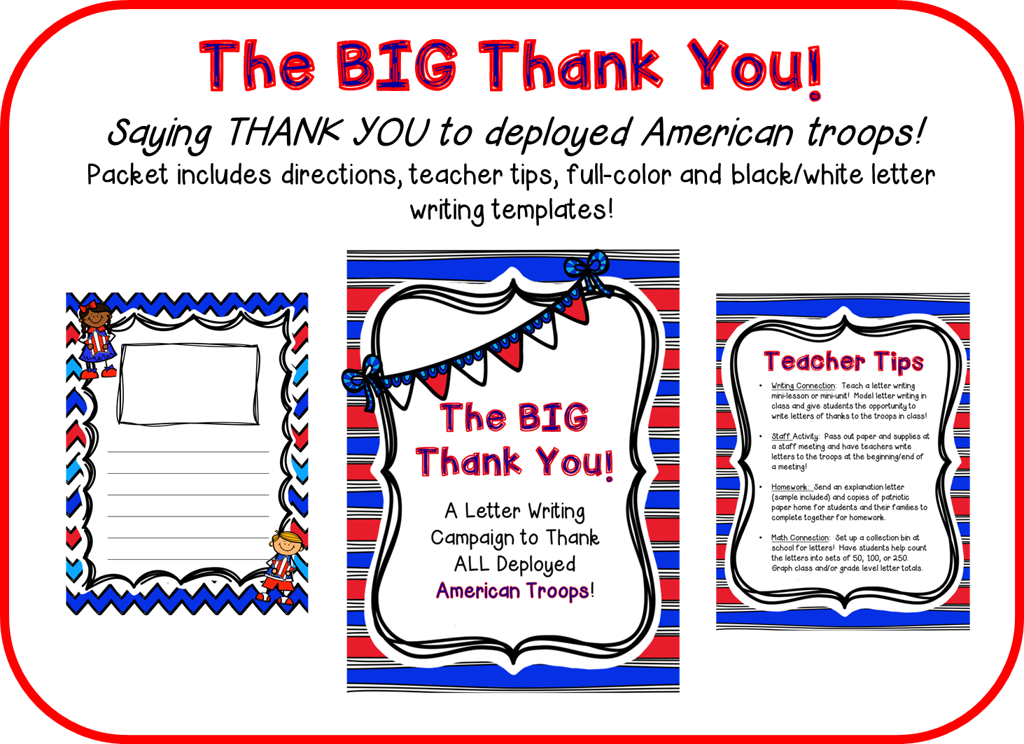 The Owl Teach The Big Thank You Writing Letters To The Troops