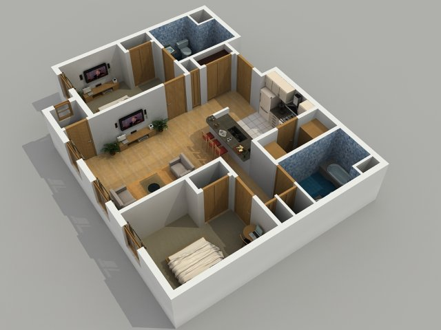 Stylish%2BModern%2BHome%2B3D%2BFloor%2BPlans%2B%25287%2529 Stylish Home 3D Floor Plans Interior