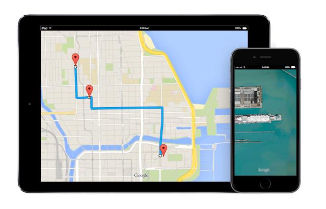خرائط جوجل ,  تحديث جديد Google Maps , شركة جوجل , apple , IOS 10