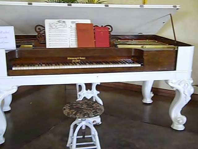 Antique Piano from Eagle Castle Tasting Room