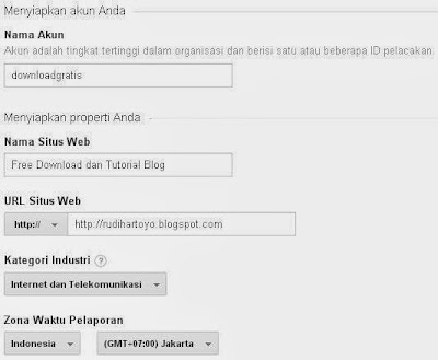 formulir google analytics