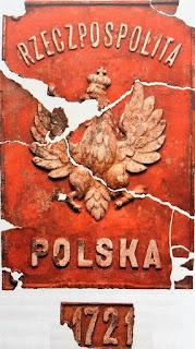 Tablica ze słupa granicznego między RP a ZSRR