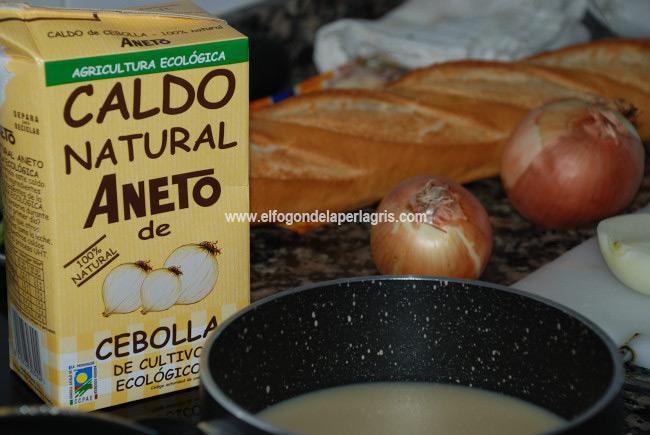 Sopa francesa de cebolla gratinada con Aneto