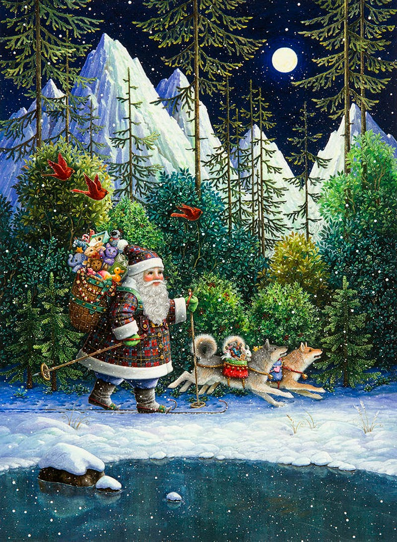 Lynn Bywaters christmas art noel illustration
