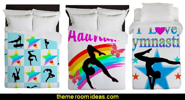 gymnastics bedding gymnastics duvet  girls sports themed bedroom decorating ideas - sports bedding - sports bedrooms - Girls rooms sports themed - cheerleader themed bedroom decorating ideas - sporty bedroom ideas - Gymnastics Girls Room - skateboarding theme bedrooms girls - soccer themed bedrooms for girls
