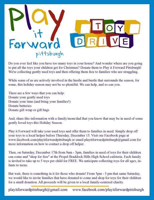 Play It Forward Pittsburgh Toy Drive Macaroni Kid