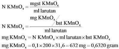 KMnO4 0,1 N 200 ml